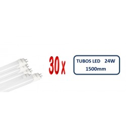 PACK 30 UNIDADES TUBO LED T8 1.500mm 24W