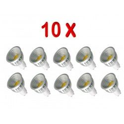 PACK 10 BOMBILLAS LED GU10 COB 5W