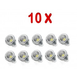 PACK 10 BOMBILLAS LED GU10 COB 7W