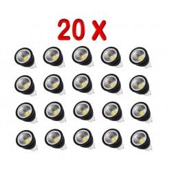 PACK 20 BOMBILLAS LED GU10 ELEGANCE COB 5W