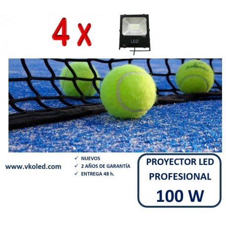 PACK  DE 4 PROYECTORES LED PROFESIONAL ES  SMD 100W
