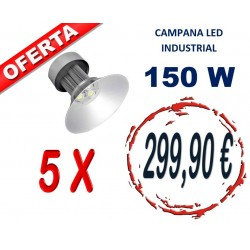 LOTE DE 5 CAMPANAS LED 150W