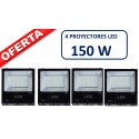 PACK DE 4 PROYECTORES LED PROFESIONALES SMD 150W