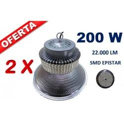 LOTE DE 2 CAMPANAS LED EPISTAR SMD 200W