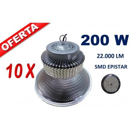 LOTE DE 10 CAMPANAS LED EPISTAR SMD 200W