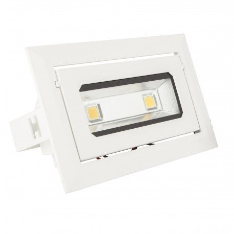FOCO DOWNLIGHT LED RECTANGULAR BASCULANTE 20W