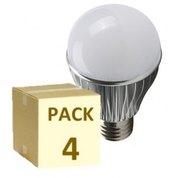 PACK 4 BOMBILLAS LED E27 5W ALUMINIO