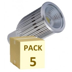 PACK 5 BOMBILLAS MR16 COB 10W 220V