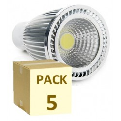 PACK DE 5 BOMBILLAS MR16 COB 7W 220V