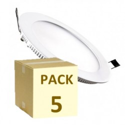 PACK 5 UNIDADES PLACA LED CIRCULAR 18W