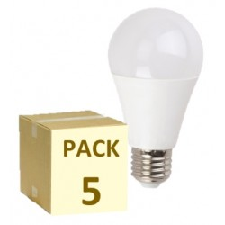 PACK DE 5 BOMBILLAS LED E27 A60 7W