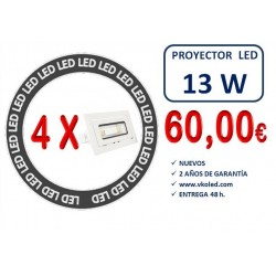 PACK 4 XDOWNLIGHT LED RECT. BASC. 13W